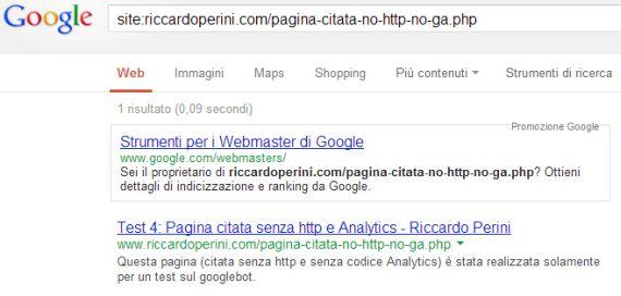 Google indicizzazione url citata senza http