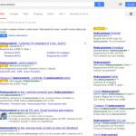 Annunci Google Adwords assicurazioni nuova grafica sfondo bianco bottone giallo Ann