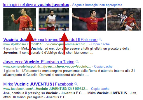Data immagine Google Universal Search (02/08/2011)