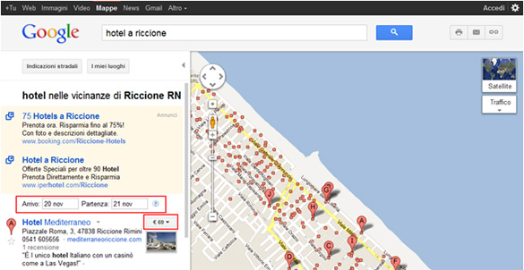 Data di Viaggio su Google Mappe