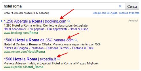 Google Adwords aggiunge nome dominio in fondo a titolo annuncio