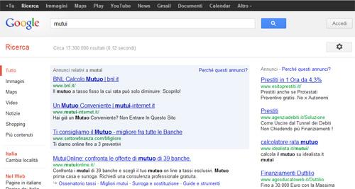 Annunci Google Adwords sfondo Blu