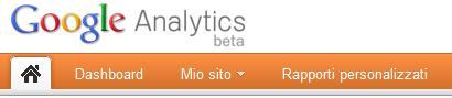 Google Analytics V5: nuova barra di navigazione