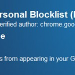 Personal Blocklist, estensione Google Chrome