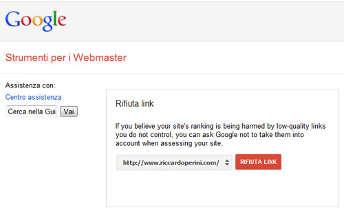 Google Disavow Links, Rifiuta Link, Rinnega Backlinks