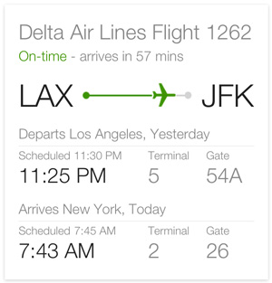 Google flight status quick answer