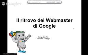 Google Hangout 22 maggio 2013