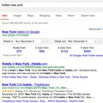 Google Hotel Finder sponsorizzato in SERP (23/11/2012)