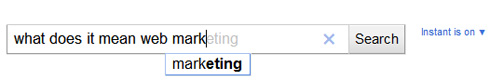 Google Instant Search: completamento singola keyword