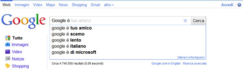 Google Instant Search in Italia di default