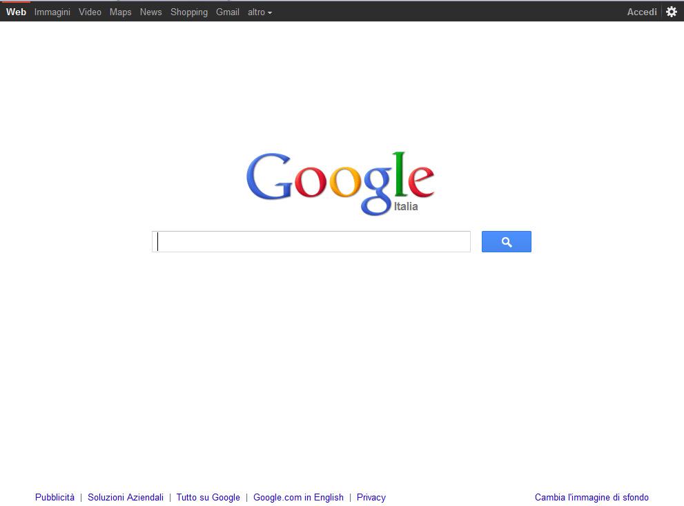 google nuovo layout per la home e la pagina dei risultati