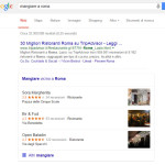 Google local pack mangiare a roma 2015