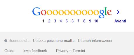 Google località nel footer