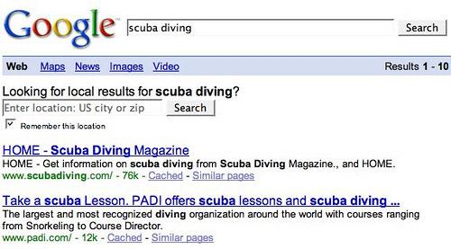 Impostare località ricerca Google