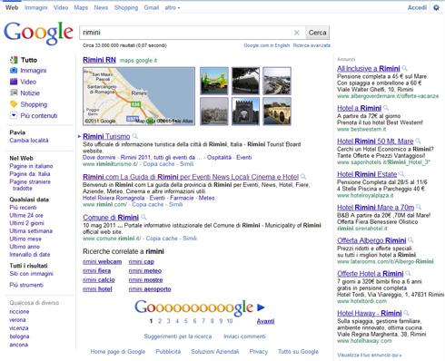 Google SERP solo 3 risultati organici