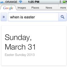 Google box festività in SERP (quando è pasqua?)