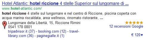 Voti Google Places con Stelline