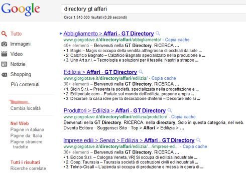 Google Snippet Directory GT