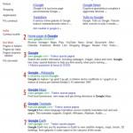 Google SERP con 7 risultati organici