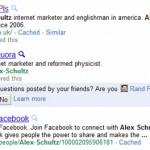 Google SERP: Snippet personalizzato account Quora