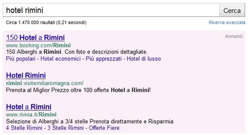 URL sotto titolo annuncio Google Adwords