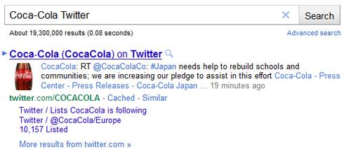 Google Sitelinks per account Twitter