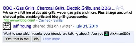 Google Social Search Update
