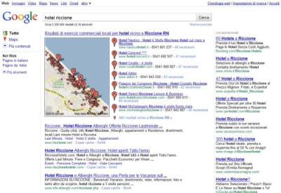 Serp Google.it Hotel Riccione - vecchio layout
