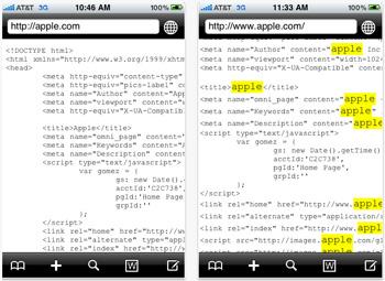Screenshot HTML Viewer iPhone app