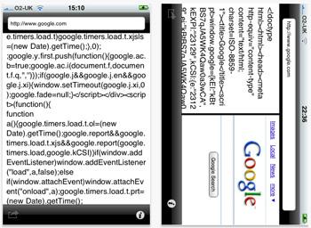 Screenshot iHTML iPhone app