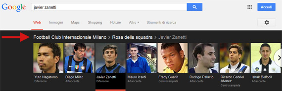 Javier Zanetti Knowledge Graph carousel