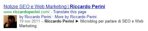 Markup Autore Riccardo Perini rel author