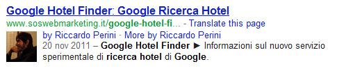 Rich Snippet Autore Riccardo Perini
