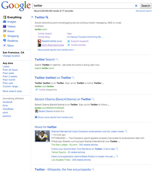 Nuova grafica pagina risultati ricerca Google