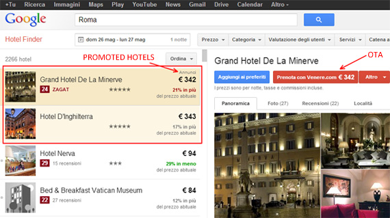 Promoted Hotels Google Hotel Finder