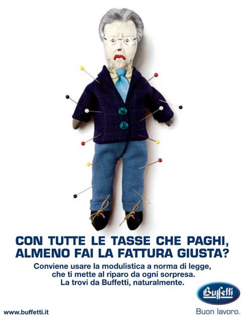 Pubblicità Buffetti su Corriere della Sera