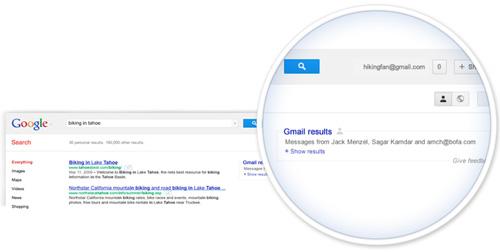 Risultati gmail in SERP su Google