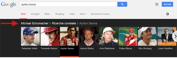 Schumacher Senna carousel Knowledge Graph