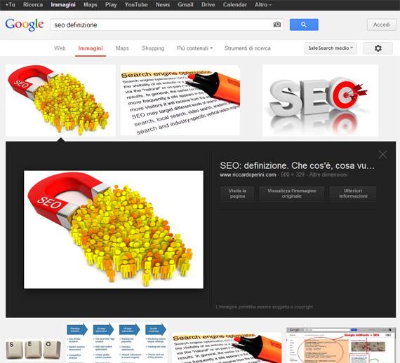 Immagine SEO su Google Images