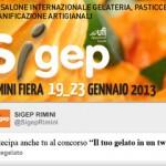 Sigep Rimini 2013 - Concorso Il Tuo Gelato in un Tweet