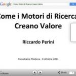 Slide Come i Motori di Ricerca Creano Valore Riccardo Perini