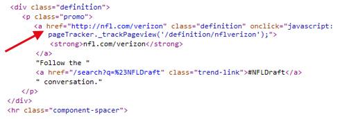 Annuncio Testuale su Twitter: codice HTML