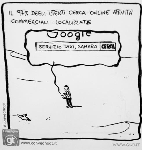 Ricerche geolocalizzate Google (vignetta GUD)